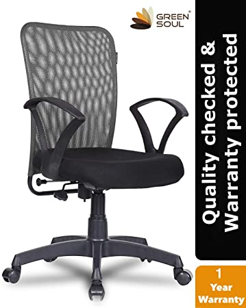 Green Soul Seoul Mid Back Mesh Office Chair (Bold Grey)