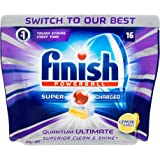 Finish Powerball Quantum Ultimate Dishwasher Tablets Superior, Clean Lemon