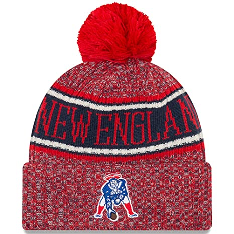 9de73207301 Image Unavailable. Image not available for. Color  New Era New England  Patriots Historic Classic Throwback Reverse Sport Knit NFL 2018 Beanie ...
