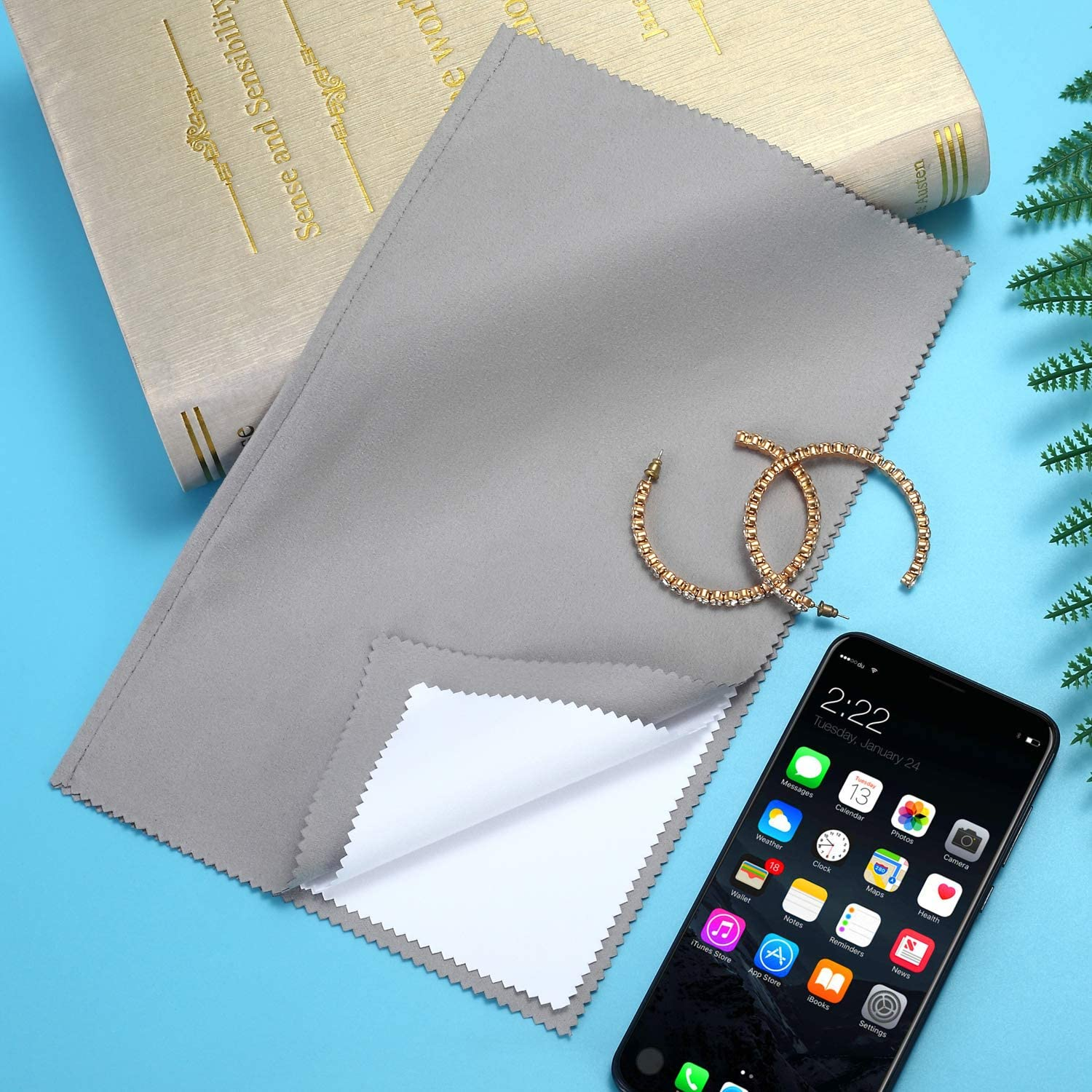 5 Pack Polishing Cloth 100/% Cotton Large Jewelry Cleaning Cloths for Gold Silver and Platinum Jewelry Coins Watches and Silverware Polish and Shine Remove Tarnish 11 x 14