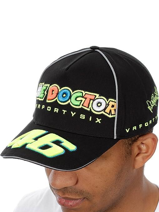 VR46 Valentino Rossi el Doctor MotoGP Gorra Negro: Amazon.es ...