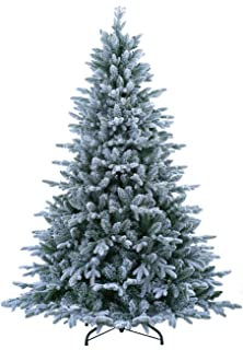 Amazon Com Vickerman 6' Flocked Spruce Artificial Christmas Tree  - Vickerman Pre Lit Christmas Trees