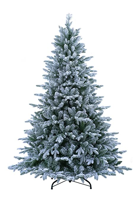 Image Unavailable. Image not available for. Color: ABUSA Pre Lit Christmas  Tree ... - ABUSA Pre Lit Christmas Tree 9 Ft Flocked Snow With 900 LED Clear Lights  2497 Branch Tips Realistic Faux Xmas Tree