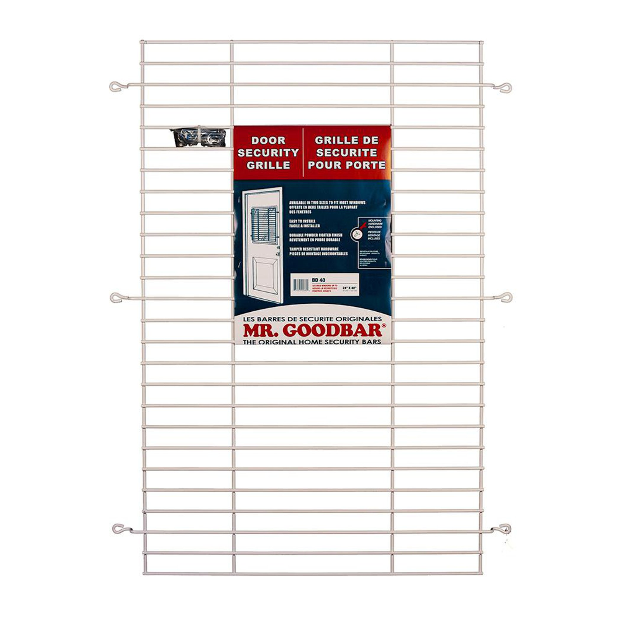 Mr. Goodbar 24 in. x 36 in. White Security Door Grille by Mr. Goodbar