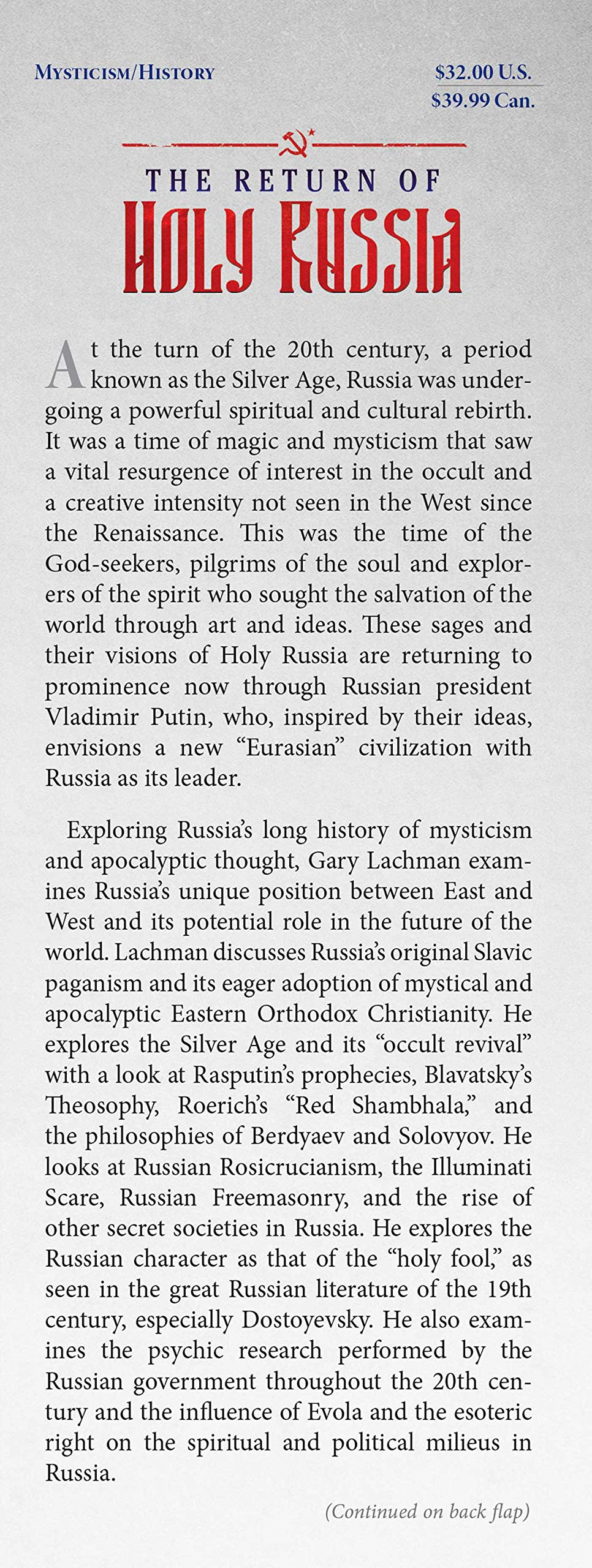 The Return Of Holy Russia Apocalyptic History Mystical Awakening And The Struggle For The Soul Of The World Lachman Gary Fremdsprachige Bücher