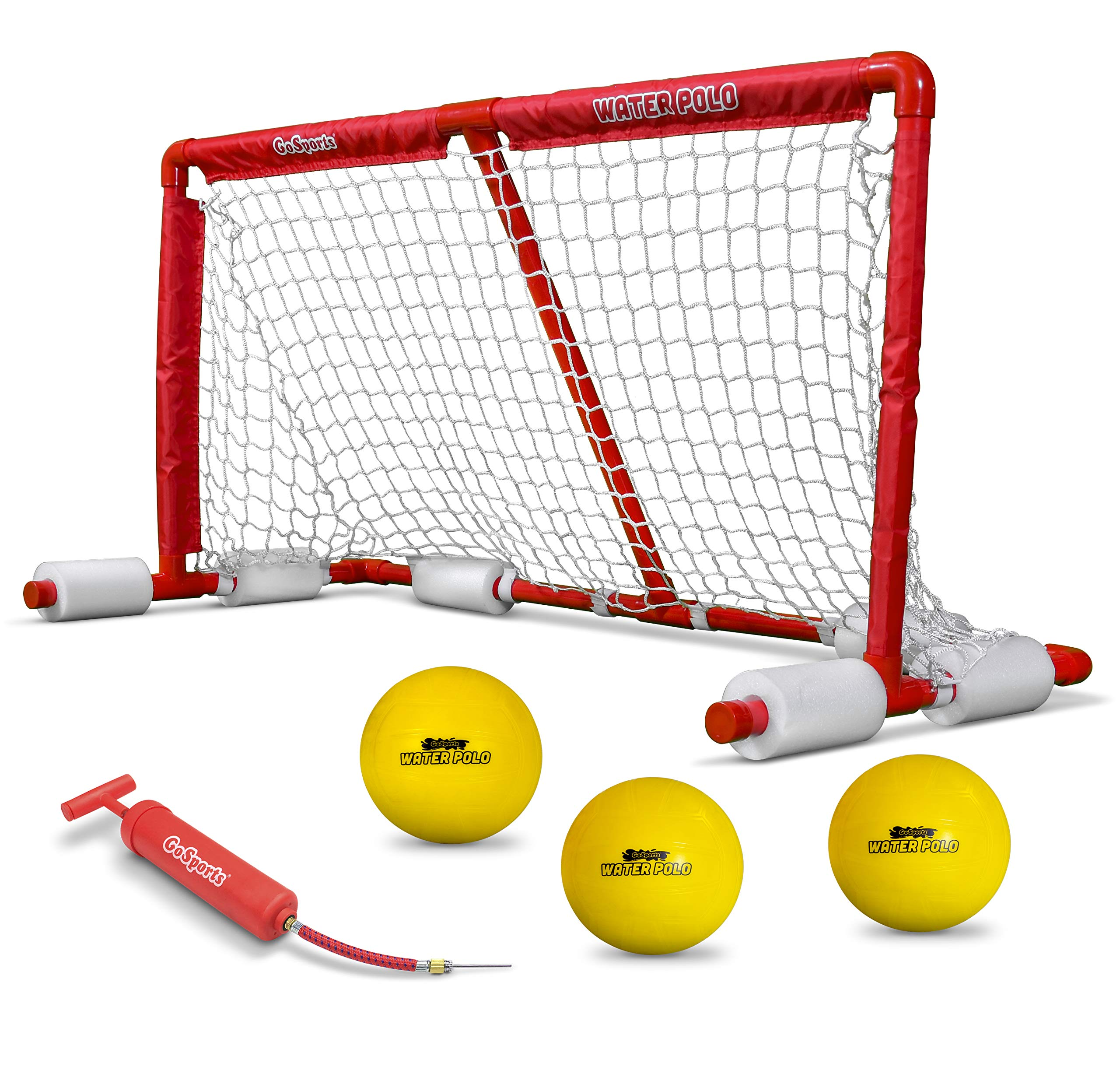 GoSports Floating Water Polo Game Set | Must Have Summer Pool Game | Includes Goal and 3 Balls by GoSports