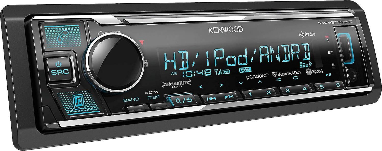 Kenwood KMM Single-DIN in-Dash MP3 Digital Media Receiver with Bluetooth HD Radio and SiriusXM Ready