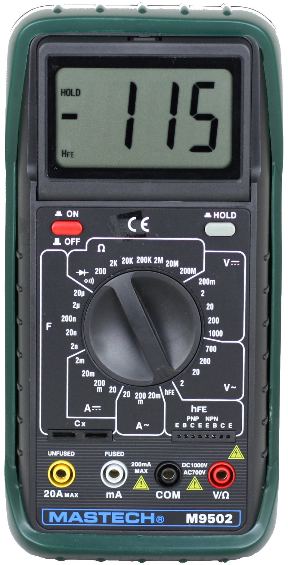Sinometer M9502 AC/DC 31-range 20A Digital Multimeter with adjustable LCD Display