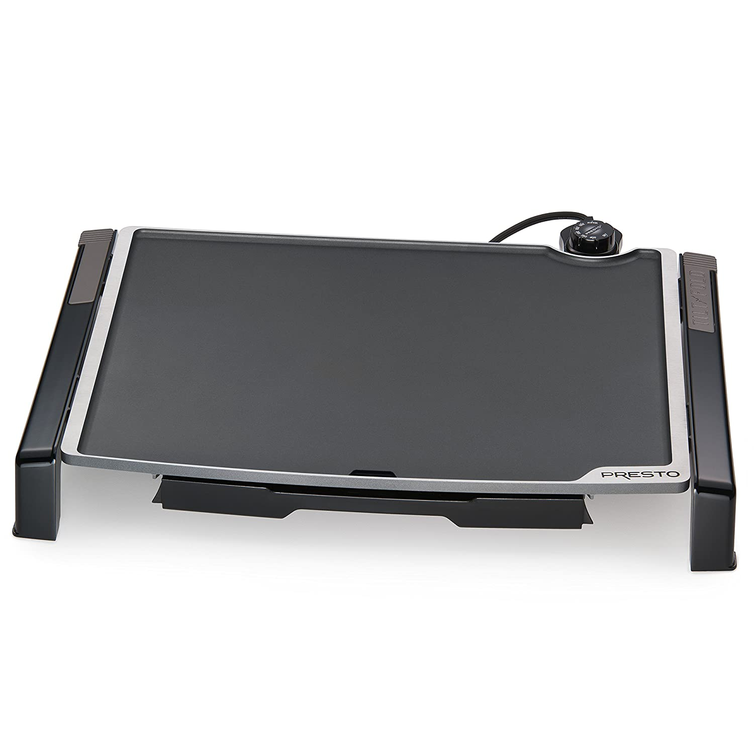 "Presto 07073 Electric Tilt-N-fold Griddle, 19"", Black"