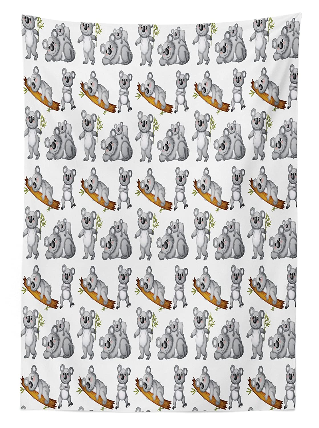 Dining Room Kitchen Rectangular Table Cover 52 W X 70 L inches Bunny with a Basket in Hand and Bird Inside Floral Banner Happy Easter Print Pastel Multicolor tc/_54015/_52x70 Lunarable Rabbit Tablecloth