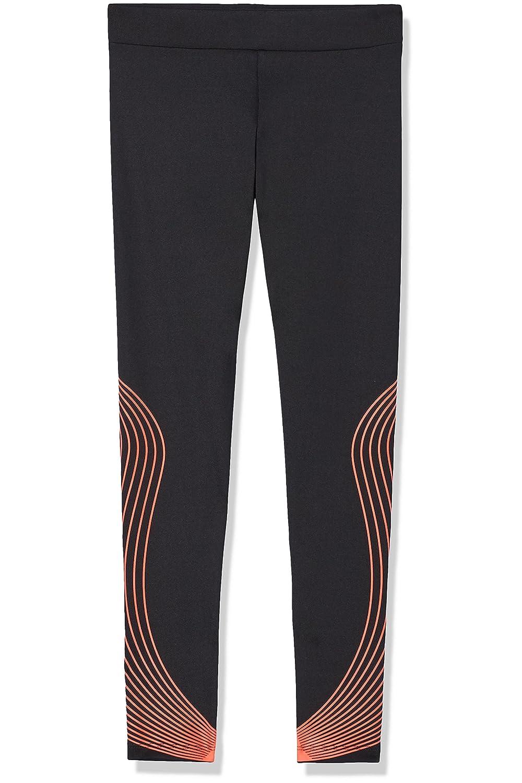 RED WAGON Leggings Sportivo con Motivo a Onda Bambino Nero (Black) 4 Anni SFP3-B-2