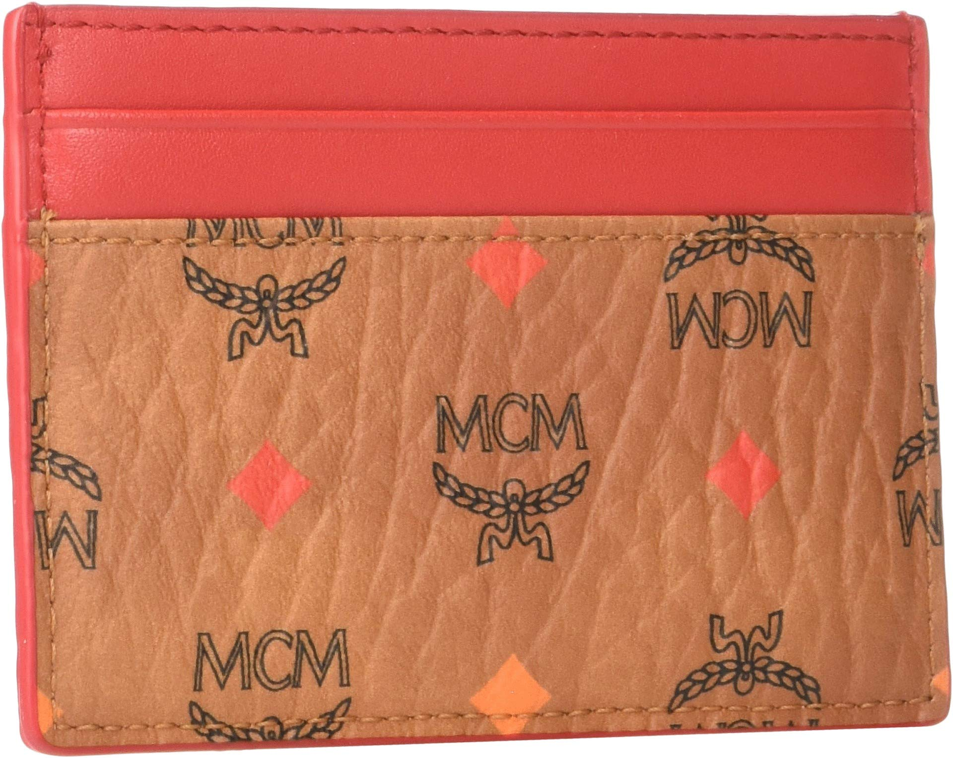 MCM Women's Spektrum Visetos Card Case Mini Spectrum Diamond Cognac One Size by MCM (Image #2)