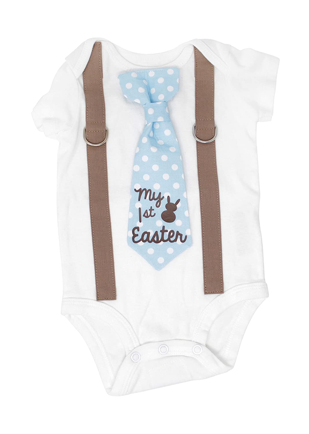d15a1c821 Amazon.com: Cuddle Sleep Dream Baby Boy First Easter Outfit. My 1st Easter  Bodysuit Easter Bunny Clothes.: Clothing