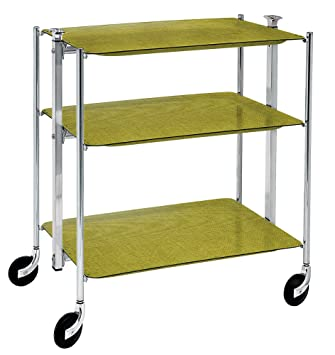 Platex 500350202 - Carrello con rotelle pieghevole a 3 piani, con ...