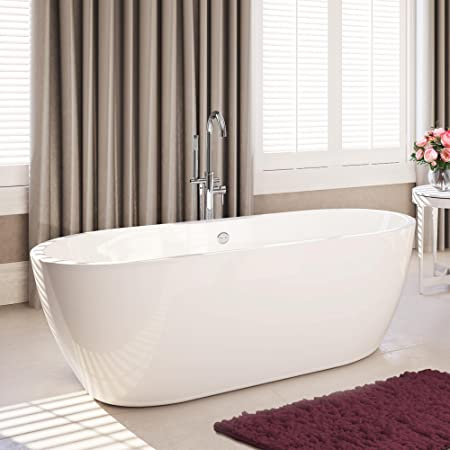 1645 mm modern freestanding bath luxury double ended large bathroom