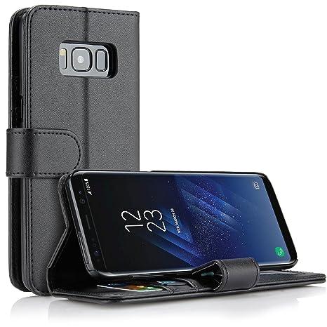 SOCU Housse Pour Samsung Galaxy S8, Flip Bookstyle Housse Étui Coque de  protection en Luxe 5828c561fd1