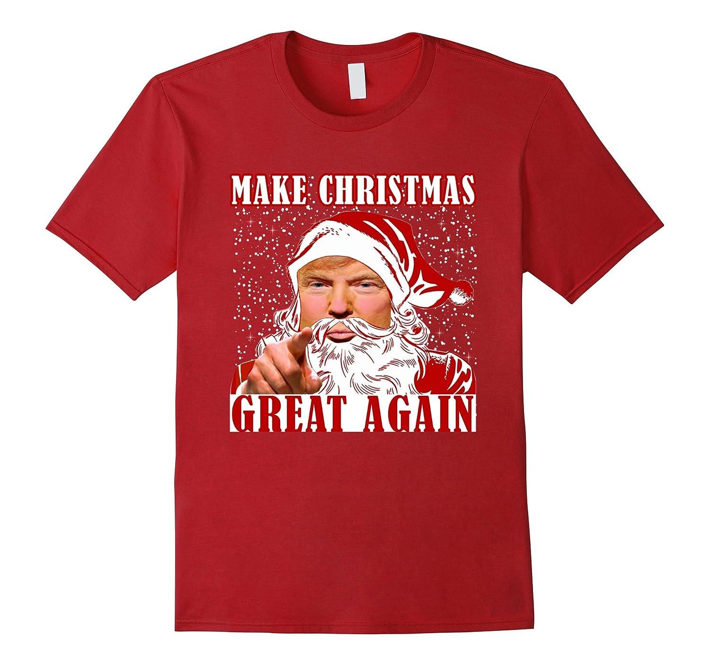 FUNNY MAKE CHRISTMAS GREAT AGAIN T-SHIRT Trump 2016 Gift-RT