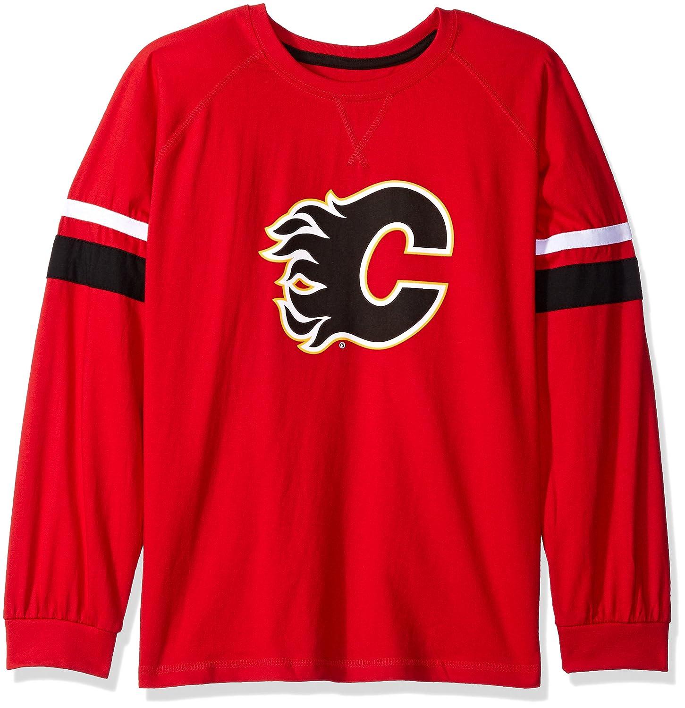 【翌日発送可能】 プロファイルBig & Tall Sleeve NHL Calgary Double Flames Long Sleeve Tee B01E7LSJWS With Double Armストライプ、3 x、赤 B01E7LSJWS, エコラボリーショップ:2d88c0d6 --- a0267596.xsph.ru