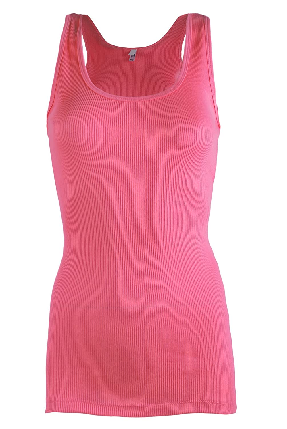 b61854ef7dbb5a 5% spandex. LAB301 Women s Basic Casual Cotton Jersey Tank Top Blouse in  Different Styles Tank top perfect for everyday wear or for layering.  Stretchable ...