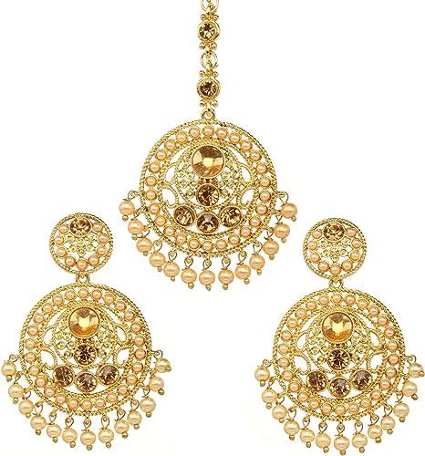 Amazon Com Bindhani Women S Indian Style Bollywood Jewellery