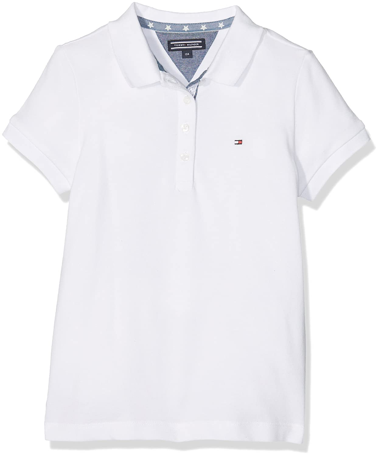 Tommy Hilfiger S Fitted Polo S/s, Niños, Blanco (Classic White ...