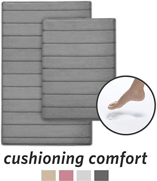 Amazon Com Microdry Ultra Absorbent Coretex Memory Foam Bath Mat