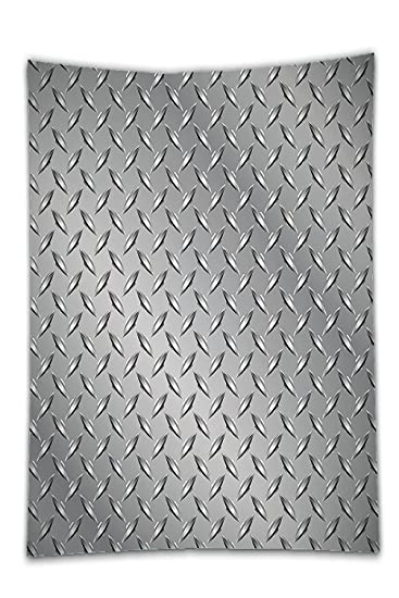 Interestlee Satin drill Tablecloth?Grey Decor Cross Wire Fence Netting Display with Diamond Plate Effects  sc 1 st  Amazon.com & Amazon.com: Interestlee Satin drill Tablecloth?Grey Decor Cross Wire ...
