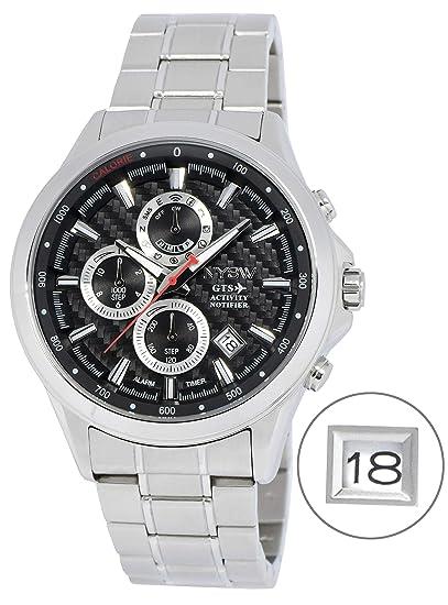 NYSW | La mayoría de Relojes Inteligentes híbridos de Lujo – Día mecánico – Cristal de
