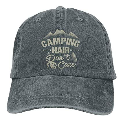 Amazon.com   ACD TV Funny Hat Baseball Cap Camping Hair Don t Care ... 0fb217e2573
