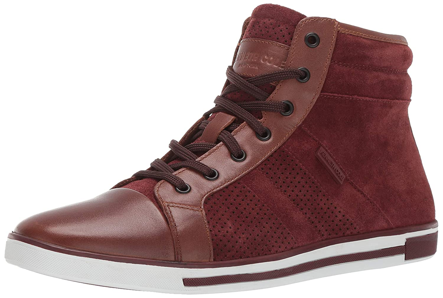 Brick Kenneth Cole New York Mens Initial Point Sneaker