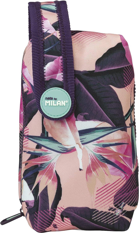 Milan Kit Un Estuche con Contenido Tropical Estuches, 19 cm, Rosa: Amazon.es: Equipaje