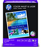 HP Paper, Color Inkjet & Laser Poly Wrap, 24 lbs, 8.5 x11, Letter,  97 Bright, 400 Sheets / 1 Ream (202040) Made In The USA