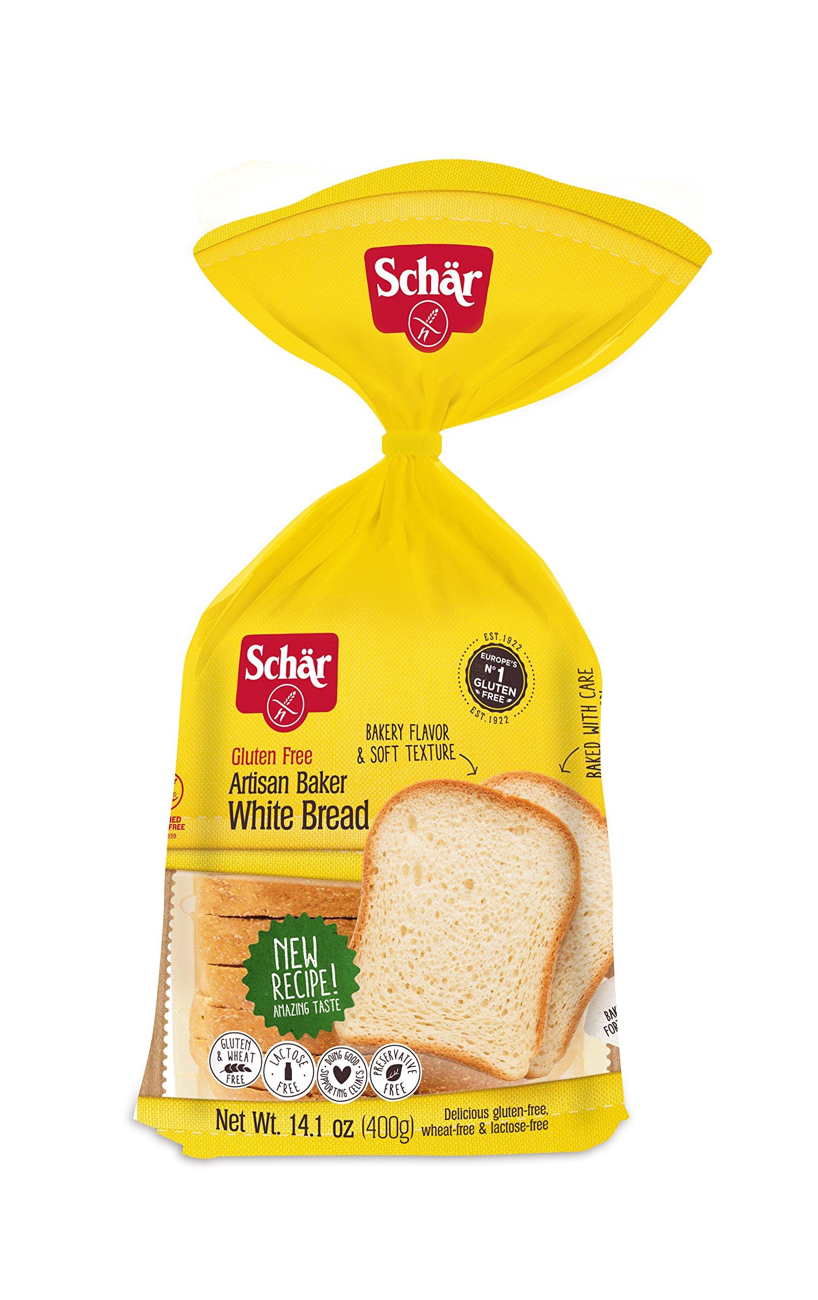 Schar Artisan Baker White Bread Loaf, Gluten-Free, 14.1 Ounce Loaf (Pack of 2) by Schar