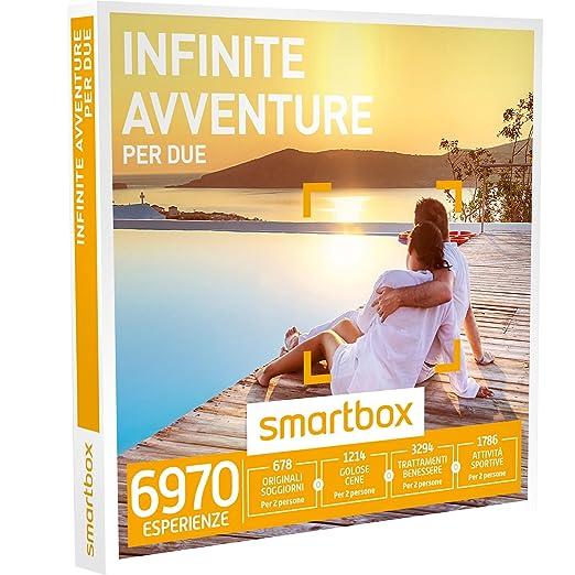 2 opinioni per SMARTBOX- Cofanetto Regalo- INFINITE AVVENTURE PER DUE- soggiorni, cene,