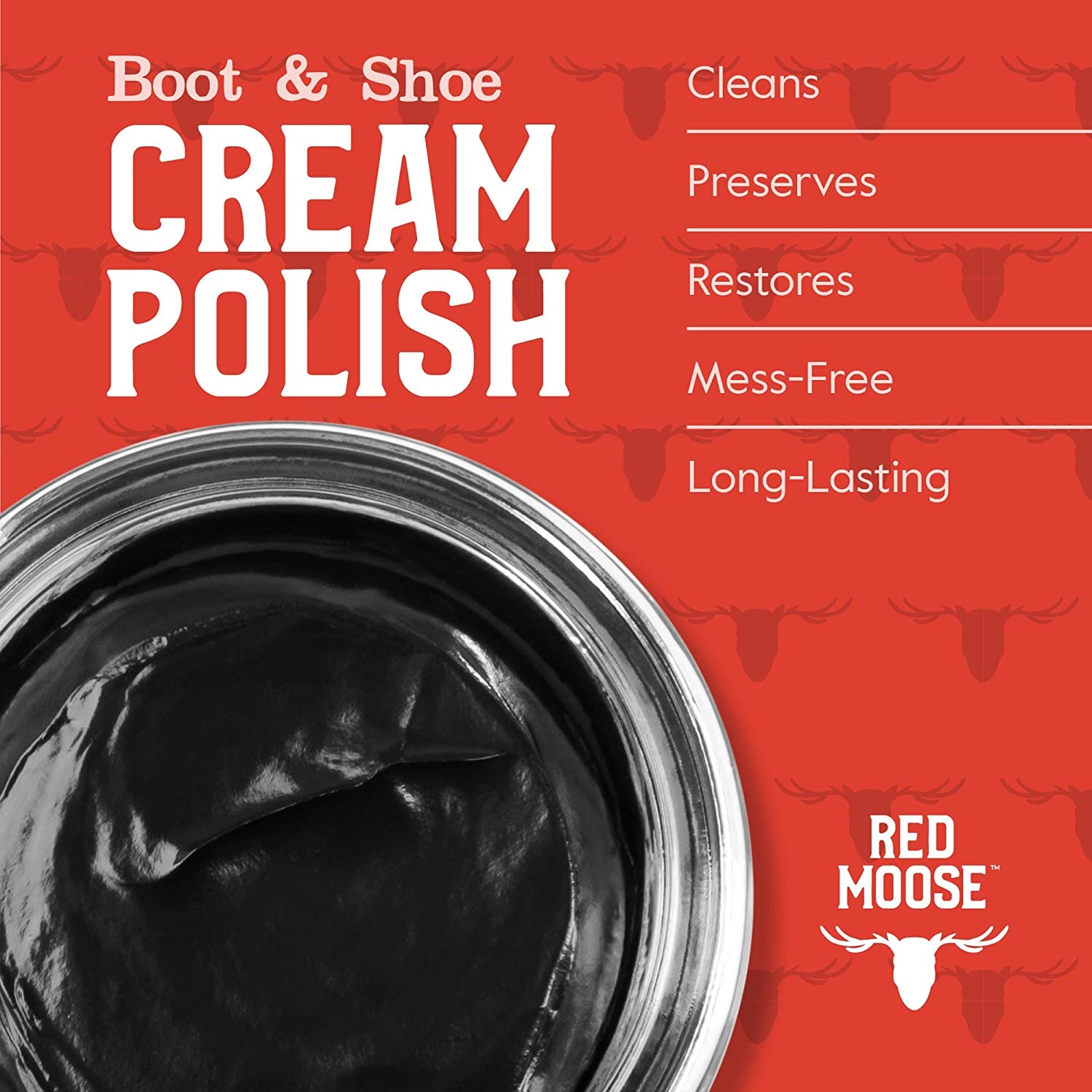 Red Moose Black Boot and Shoe Cream Polish - Made in the USA: Shoes