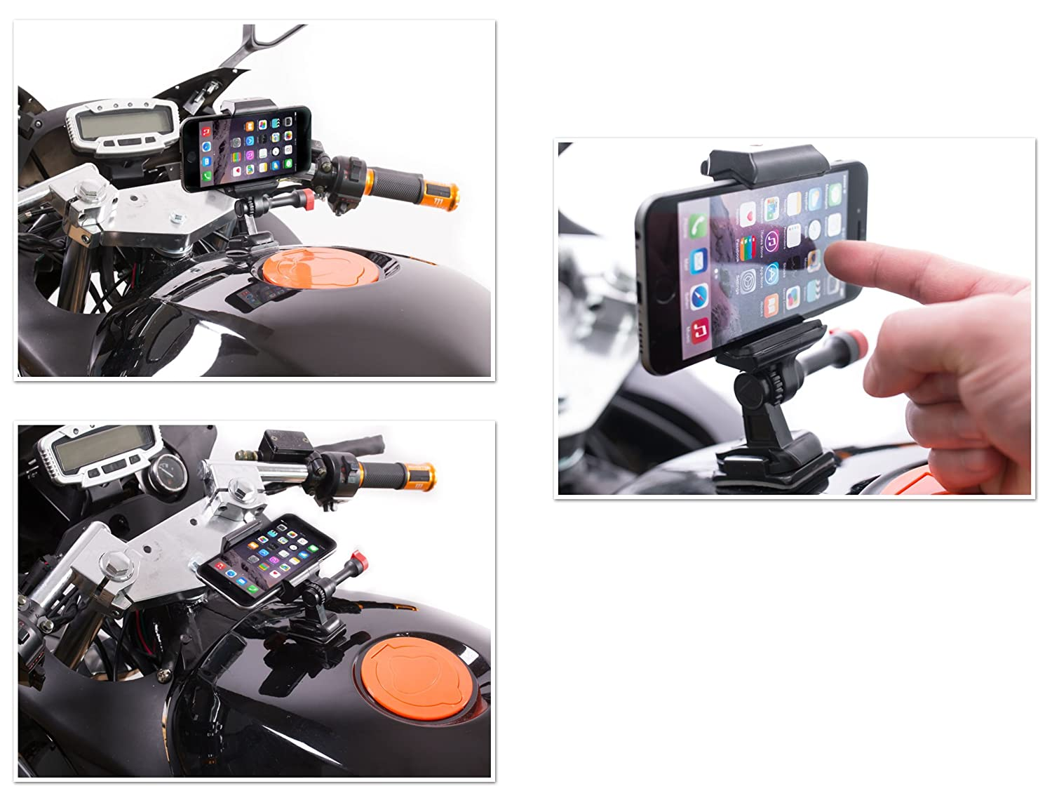 Side Panels Motorcycle Phone Holder Strong Adhesive Mount For Helmets Dashboards /& More