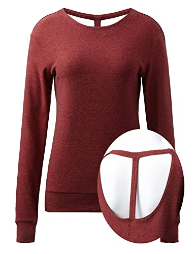 [Re-Order] REGNA X NO BOTHER Women's Long Sleeve Round Neck Active Open-Back Running Top (Plus Size ...