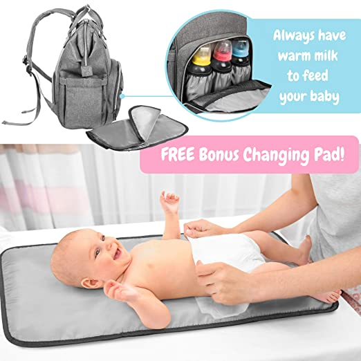 Amazon.com: BABYIPPEE - Mochila para pañales de bebé recién ...