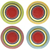 """Abbott Collection Colourful Dinner Plate, 11"""""""