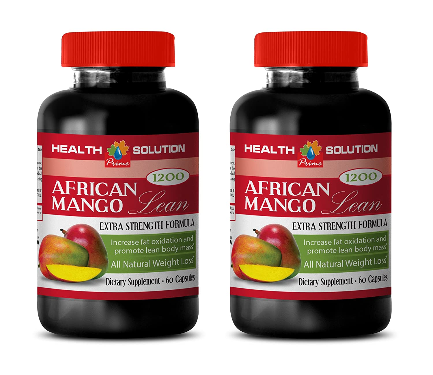 Organic african mango diet pills – AFRICAN MANGO LEAN Extra strength Formula 1200mg – Fat burner for weight loss women 2 Bottles 120 capsules