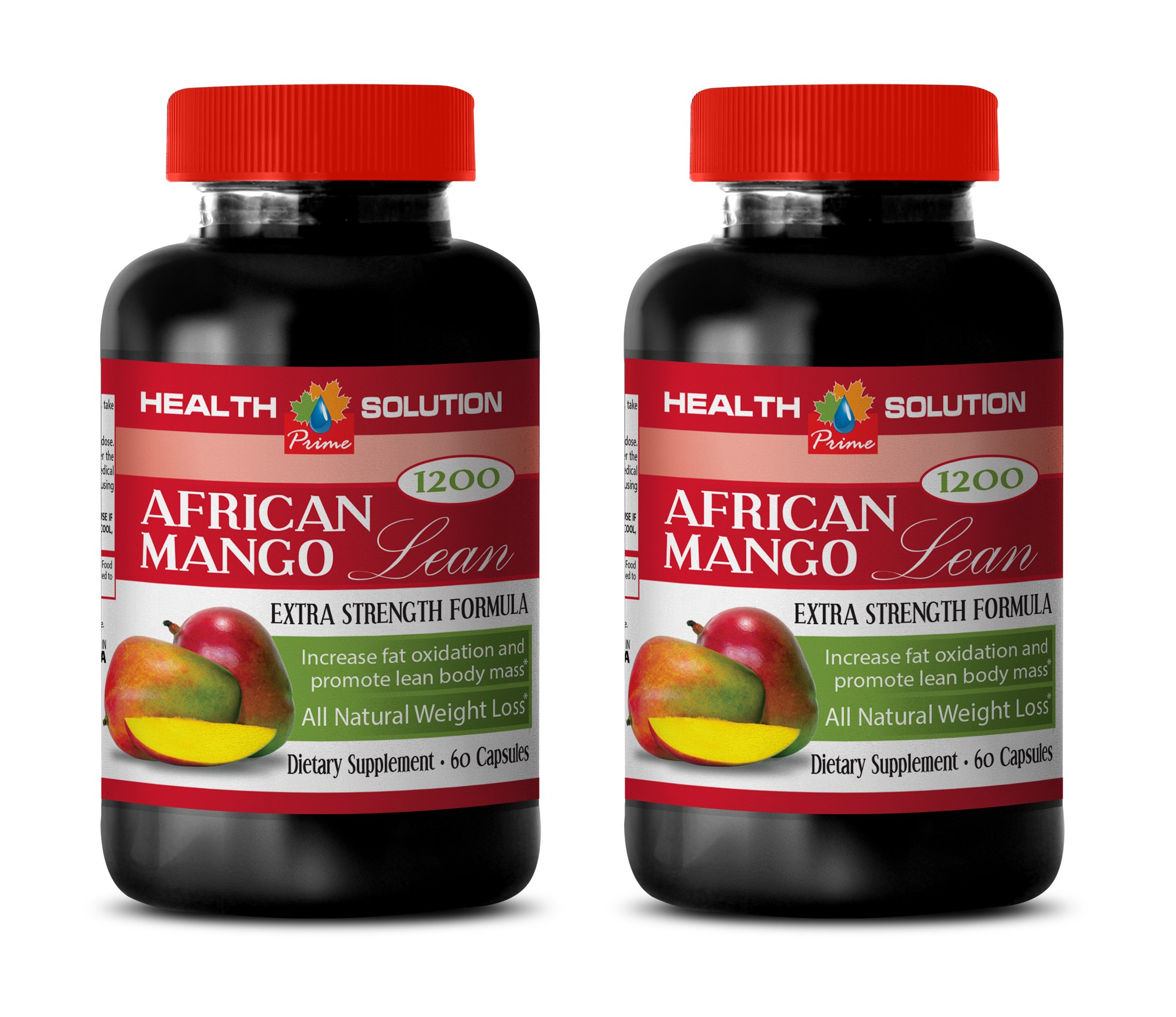 Organic african mango diet pills - AFRICAN MANGO LEAN Extra strength Formula 1200mg - Fat burner for weight loss women (2 Bottles 120 capsules) by Health Solution Prime