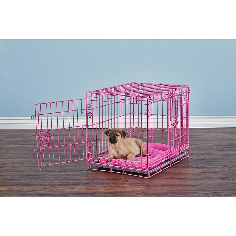amazoncom  you  me door training crate pink  medium  - amazoncom  you  me door training crate pink  medium  petsupplies