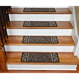 Dean Washable Non-Skid Carpet Stair Treads - Garden Path Brown (13)