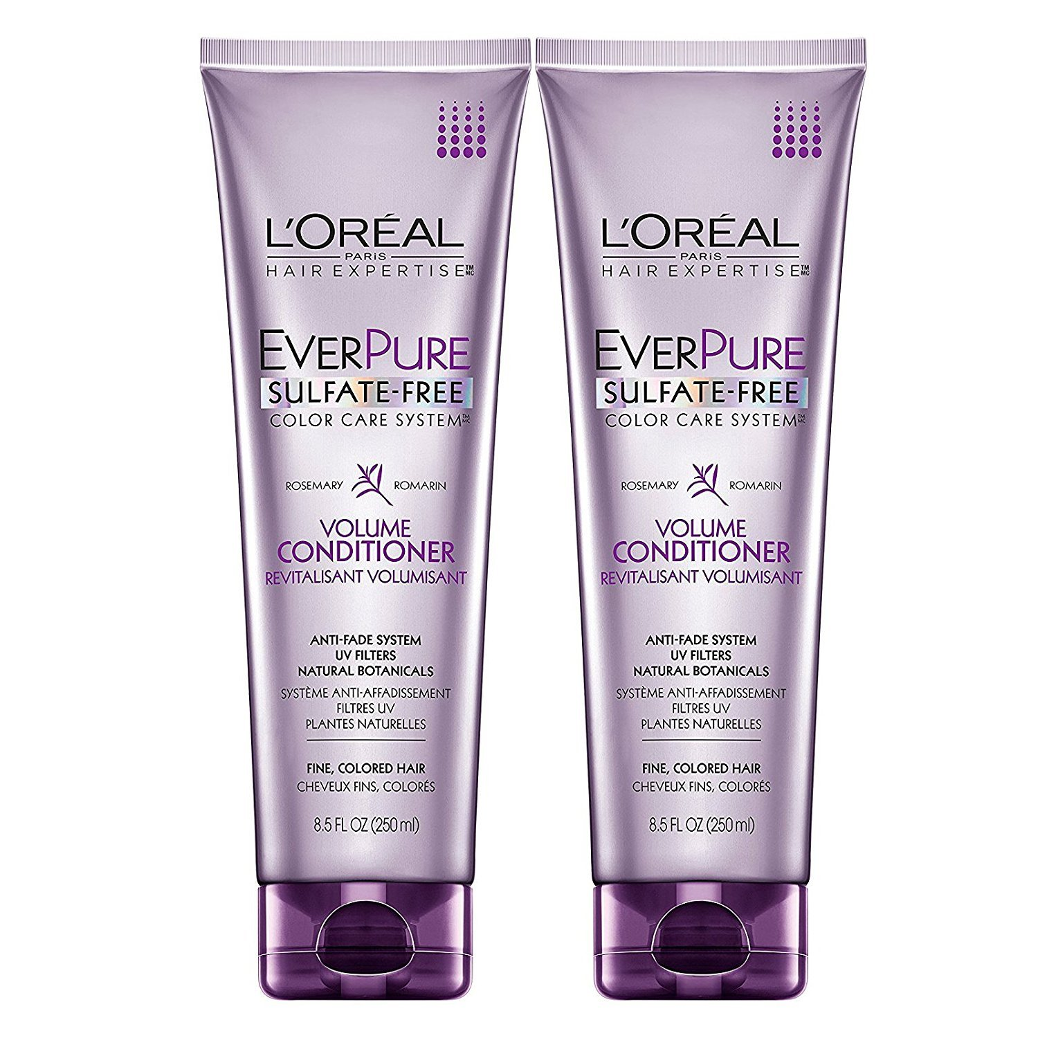 L'Oreal Paris EverPure Sulfate-Free Color Care System, Rosemary, Volume Conditioner, 8.5 oz, Pack of 2