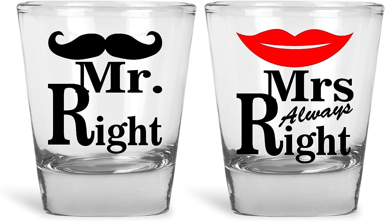 juego de dos vasos de shot para pareja