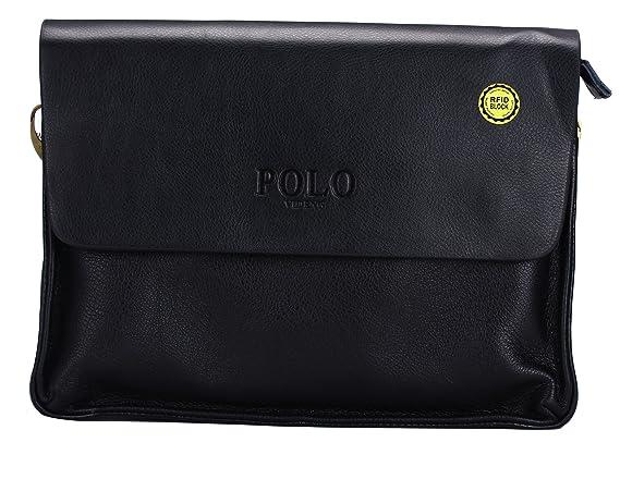 videng Polo® hotest Fashion Hombre Cuero RFID bloqueo seguro ...