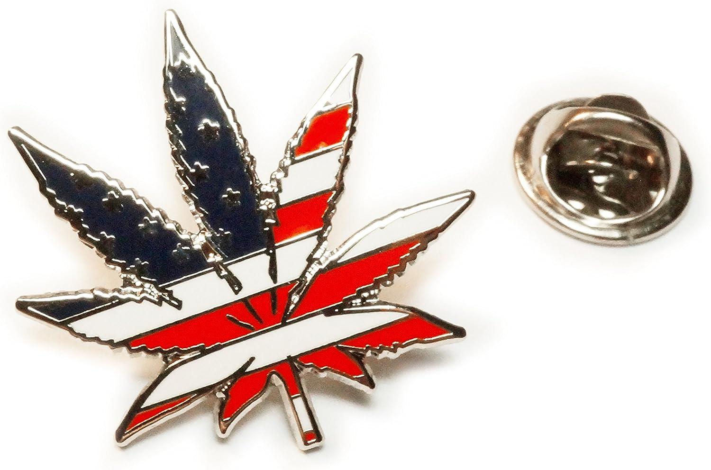 Pot Leaf Marijuana Weed Leaf Stoner Gift 420 Enamel Hat Pin Cannabis MMJ
