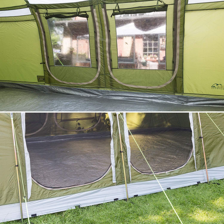 Skandika Montana 8 Protect Familienzelt für 8 Personen Personen Personen   eingenähter Zeltboden   2 trennbare Schlafkabinen   5000mm Wassersäule   200 cm Stehhöhe B07CWV8WQB Tunnelzelte Verkauf Online-Shop 236c87