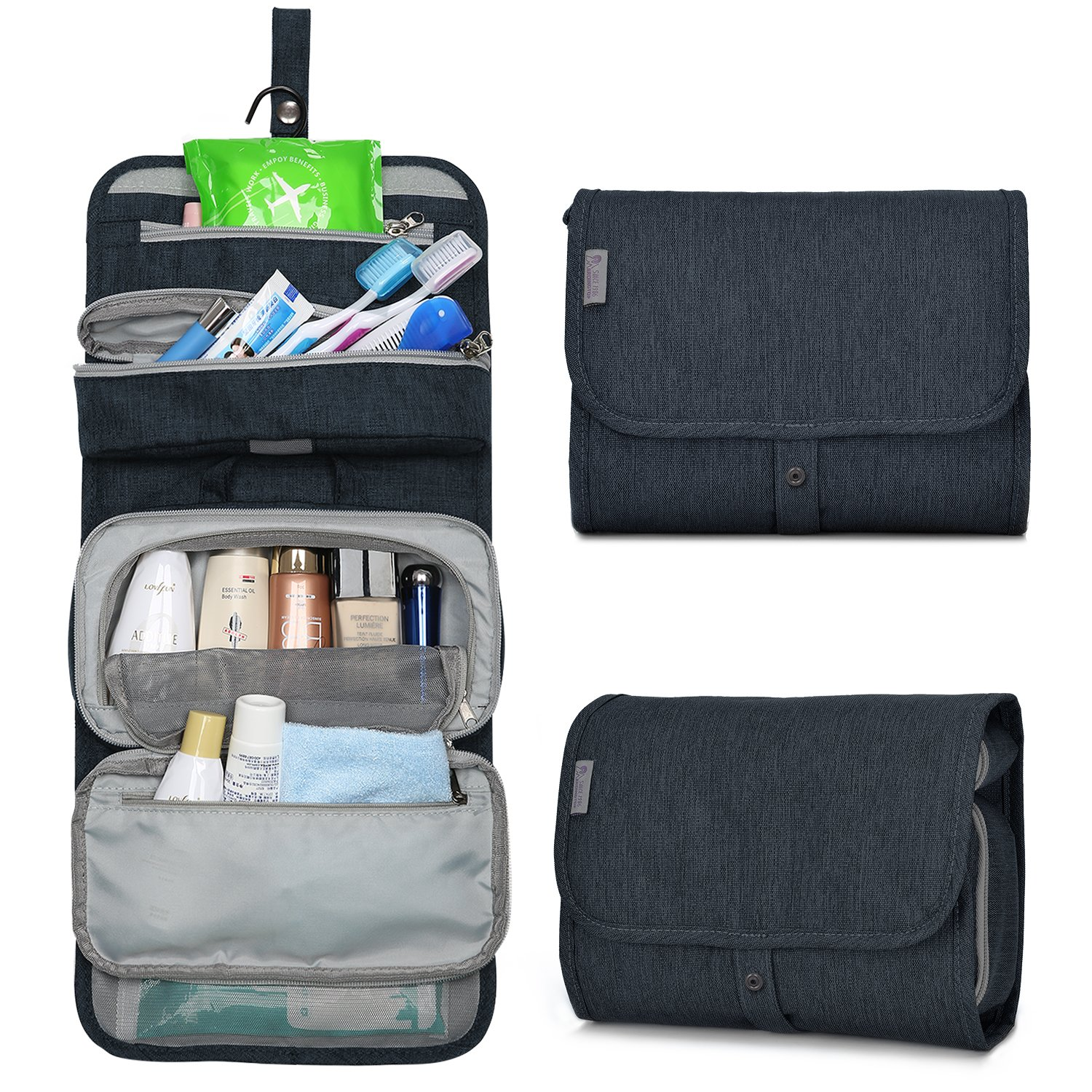 Mountaintop Hanging Travel Toiletry Bag, 7.1 x 2.4 x 9.3-Inch For Men & Women