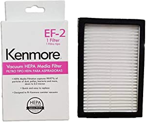 Ultra Care Replacement for Kenmore 86880 EF-2 EF2 20-86880 HEPA Media Vacuum Cleaner Exhaust Air Filter for Upright and Canister Vacuums